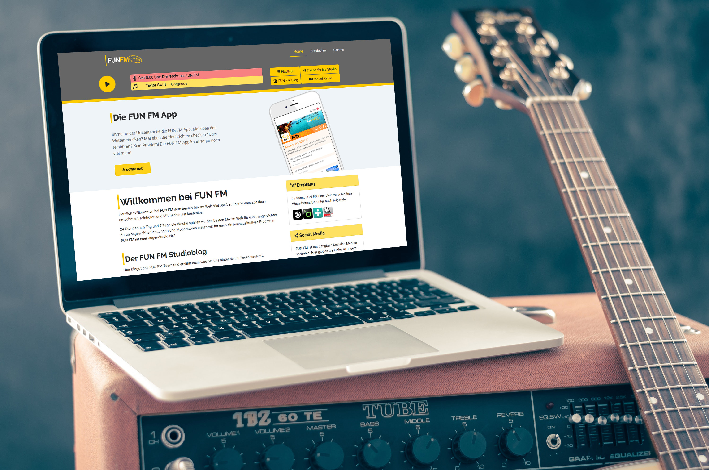 FUN FM Homepage neu